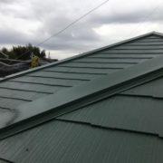 棟補修工事後に塗装した屋根